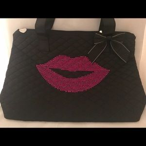Custom Rhinestone Tote wirh Lips! Any color 👄